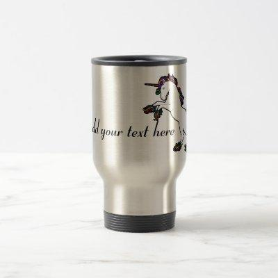 Unicorn Cornified and Customizable Travel Mug