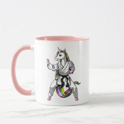 Unicorn Girl Karate Ninja Mug