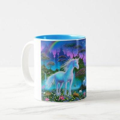 Unicorn Mug (white handle)