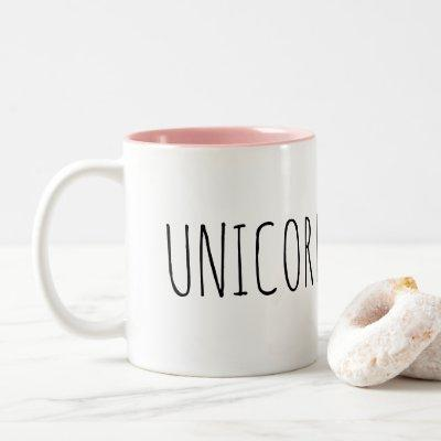 Unicorn Pink Interior Inside Coffee Mug