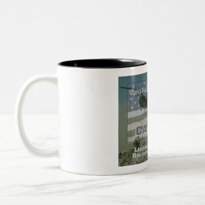 Uniquely Designed Commemorative Company Commander Two-Tone Coffee Mug