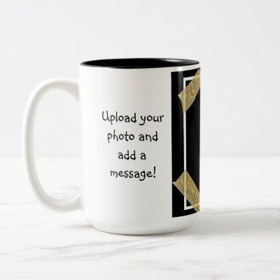 Upload a Photo and Add a Custom Message Two-Tone Coffee Mug
