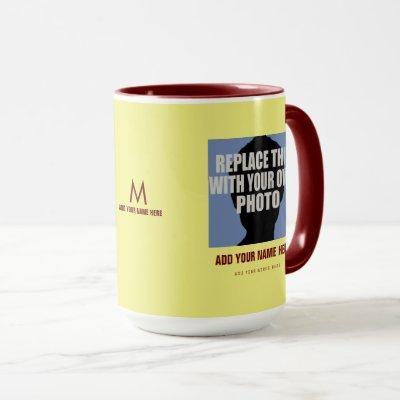 upload your own image, create photo mug