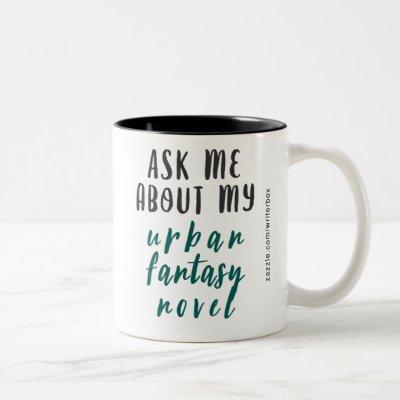Urban Fantasy Novel (White-Green-Black) Two-Tone Coffee Mug