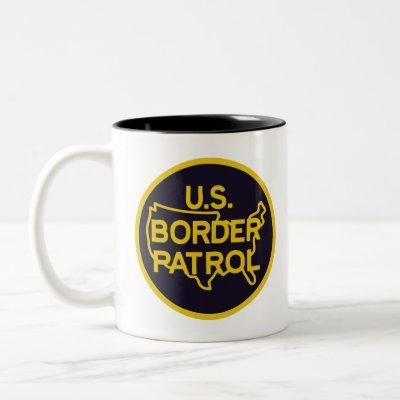 US Border Patrol Seal Two-Tone Coffee Mug