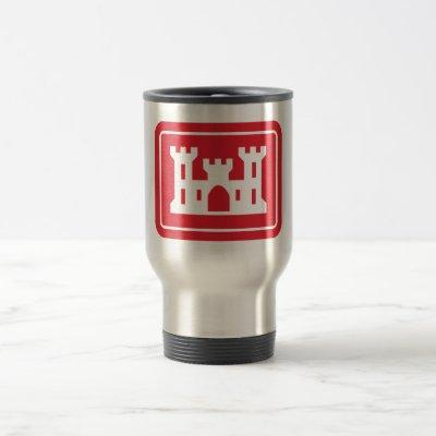 US Corps of Engineers DOD Military Travel Mug