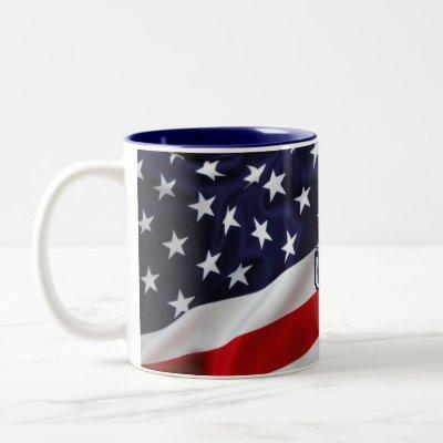 USA Flag Mug Stars And Stripes  Red, White ,Blue