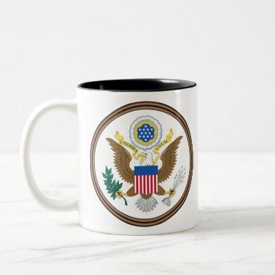 usa great seal Two-Tone coffee mug