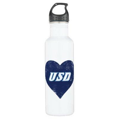 USD Vintage Heart Water Bottle