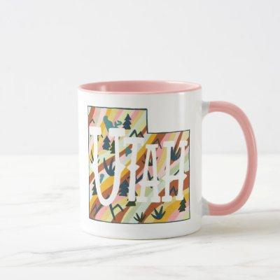 Utah State Map Illustration Mug