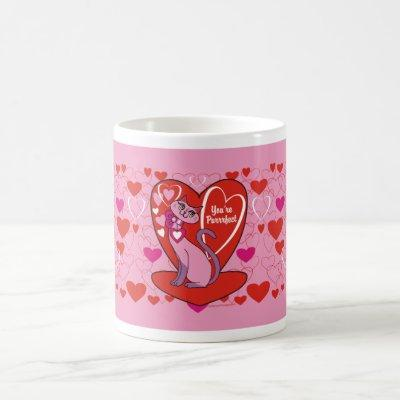 Valentine Kitty - You're Purrrfect Coffee Mug