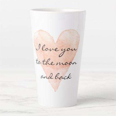 Valentine's Day mug gift - Love you to the moon
