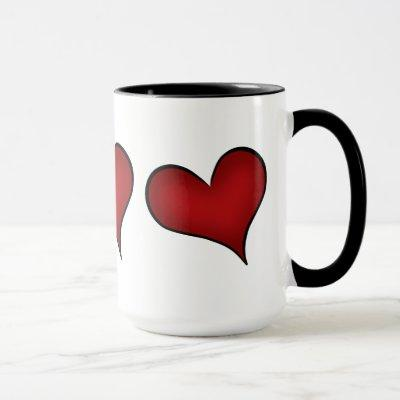 Valentines Day red hearts Mug