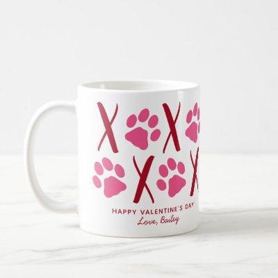 Valentines Day XOXO Cute Pet Puppy Dog Photo Coffee Mug