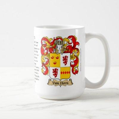 Van Horn Family Coat of Arms Coffee Mug