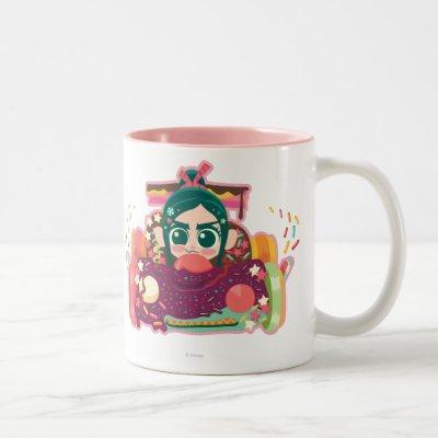 Vanellope Von Schweetz Driving Car Two-Tone Coffee Mug