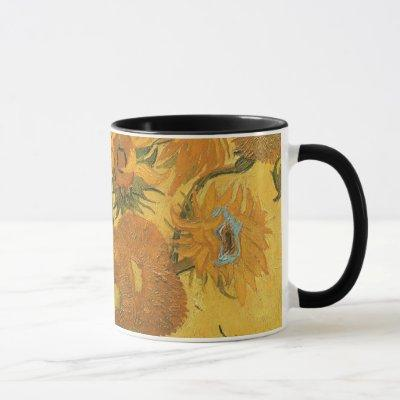 Vase with 15 Sunflowers by Vincent van Gogh Mug