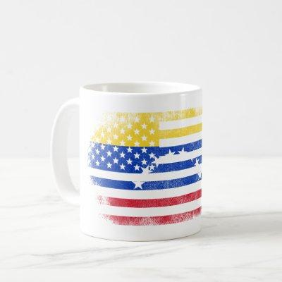 Venezuelan American Flag   Venezuela and USA Coffee Mug