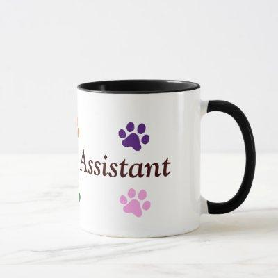 Veterinary Assistant-Colorful Paw Prints Mug