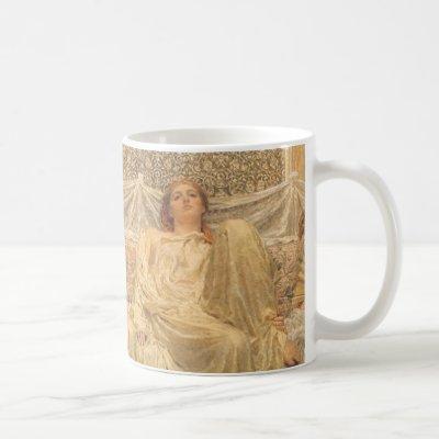 Victorian Art, Dreamers by Albert Joseph Moore Coffee Mug