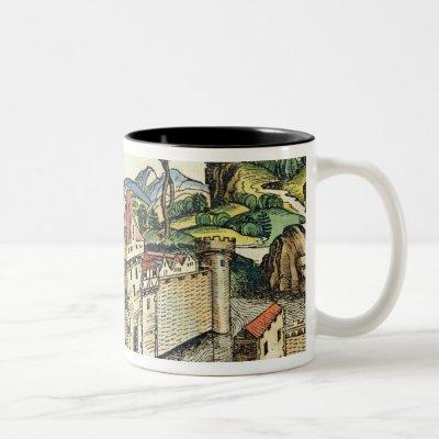 View of the Ancient City of Babylon, from the Nure Two-Tone Coffee Mug