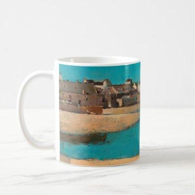 Village by the Sea in Brittany by Odilon Redon Coffee Mug
