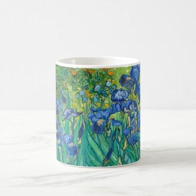 Vincent Van Gogh Irises Floral Vintage Fine Art Coffee Mug