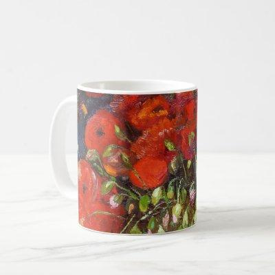 Vincent Van Gogh Vase with Red Poppies Fine Art Coffee Mug