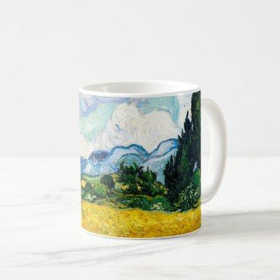 Vincent Van Gogh Wheat Field with Cypresses Coffee Mug