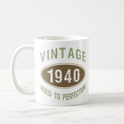Vintage 1940 80th Birthday Coffee Mug