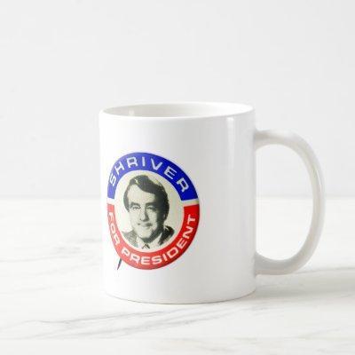 Vintage 1976 Presidential Campaign Sargent Shriver Coffee Mug