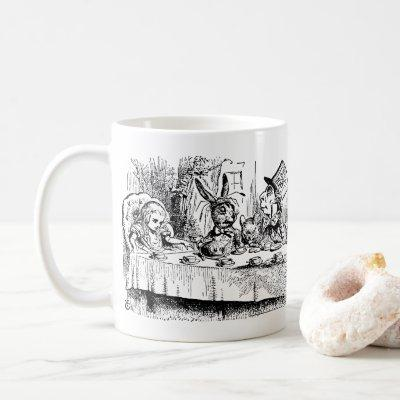 Vintage Alice in Wonderland, Tea Party Scene Coffee Mug