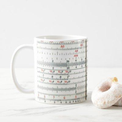 Vintage Antique Slide Rule Close-Up Photo Coffee Mug