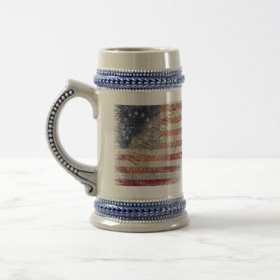 Vintage Betsy Ross American Flag Beer Stein