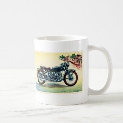 Vintage British Motorcycle Vincent Black Shadow Coffee Mug