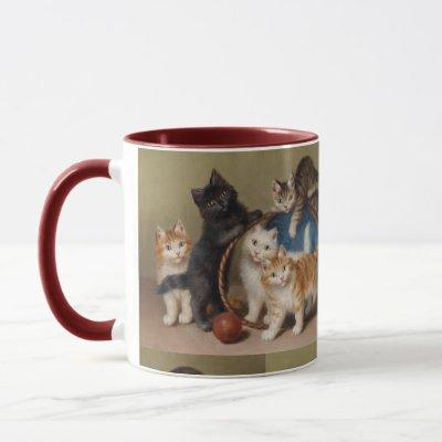 Vintage Cats Kittens Sophie Sperlich The Red Ball Mug