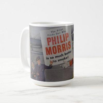 Vintage Crew Member Pilot Cigarette Advertisement Coffee Mug