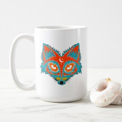 Vintage Fox Illustration Coffee Mug