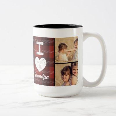 Vintage Heart Custom Photo Mug