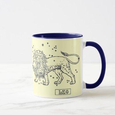 Vintage Image - Zodiac - Leo Mug