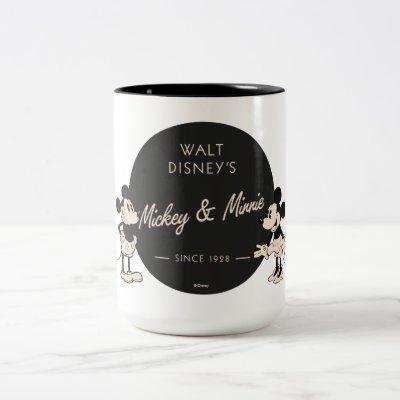 Vintage Mickey & Minnie Two-Tone Coffee Mug