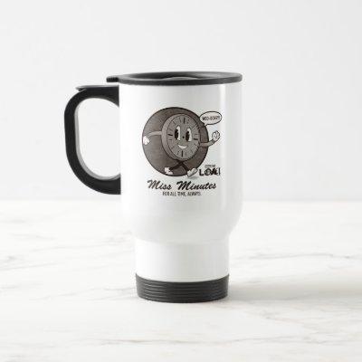 Vintage Miss Minutes Graphic Travel Mug