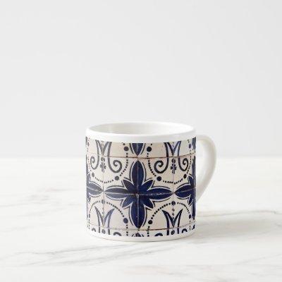 Vintage portuguese azulejo espresso cup