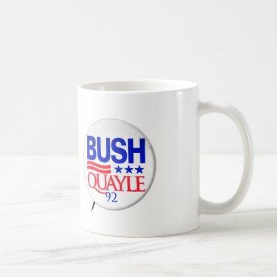 Vintage Republican Election Art Bush Quayle Coffee Mug