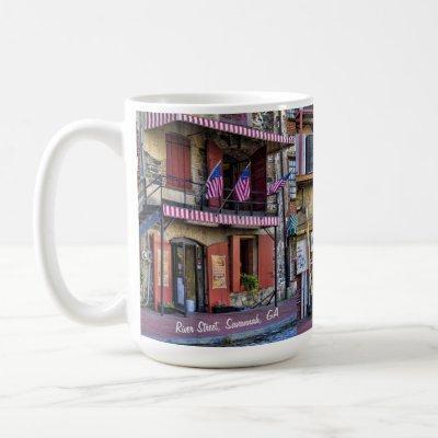 Vintage River Street Savannah GA Travel Photograph Coffee Mug