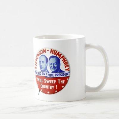 Vintage Stevenson Humphrey Campaign Button Coffee Mug