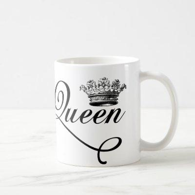 Vintage style Queen of everything french girl chic Coffee Mug