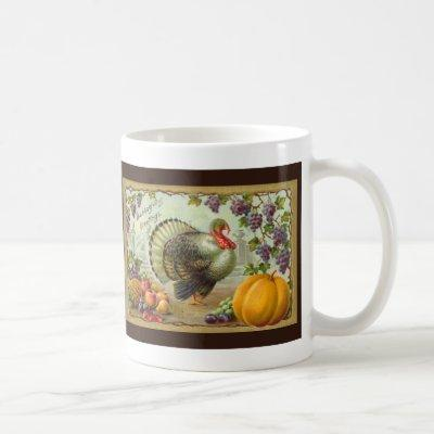 Vintage Thanksgiving Greetings Mug