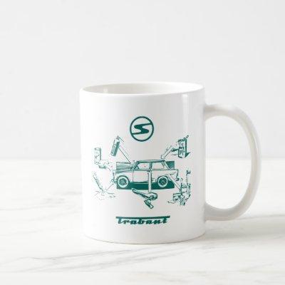 Vintage trabant coffee mug