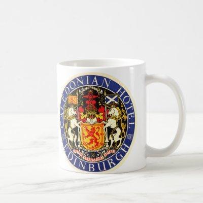 Vintage Travel Caledonian Hotel Edinburgh Scotland Coffee Mug